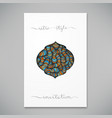 beautiful card template vector image