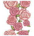 colorful silhouette with realistic roses vector image