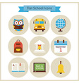 Flat Back to School and Science Icons Set vector image