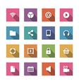 Flat icons set for design web sites and mobile vector image