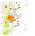 floral summer background vector image