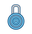 high security padlocks vector image