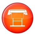 Large format inkjet printer icon flat style vector image