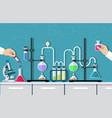 medical laboratory desktop vector image