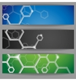 Molecule Abstract Banner vector image
