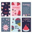 summer holiday vacation poster set flat design vector image
