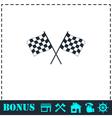 Racing flag icon flat vector image