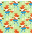 Seamless pattern with fox vector image vector image