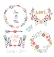 Beautiful romantic collection vector image vector image