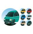 minivan icons vector image vector image