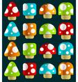 mini magic mushrooms vector image vector image