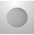 a halftone sphere vector image