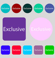 Exclusive sign icon Special offer symbol 12 vector image