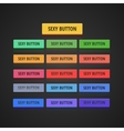 Flat Web Buttons Collection vector image