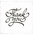 Inscription Thank you Original handwritten vector image
