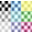 Multicolored squared patterns vector image