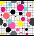 seamless abstract circles geometrical pattern on vector image