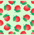 seamless cranberry pattern berry background vector image
