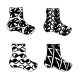 set of Christmas sock icon in zentagle vector image