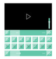 template video player vector image
