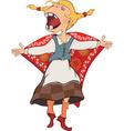 The cheerful girl Cartoon vector image