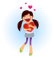 The girl got a Valentines card vector image