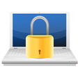 Security concept with padlock and laptop vector image