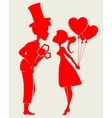 charming loving young couple vector image
