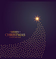 creative christmas tree design made with golden vector image