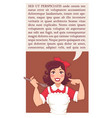home made cooking in retro style flyer or banner vector image vector image