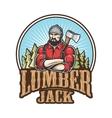 lumberjack emblem vector image