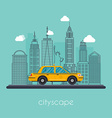 flat cityscape with downtown houses Urban c vector image
