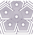 black and white geometric seamless pattern design vector image