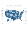 detailed map of united states of america vector image