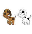 educational coloring book-dog vector image