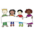 Ethnic diversity kids and banner vector image