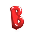 letter b in shape of glossy red balloon funny vector image