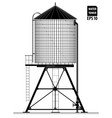Water tower on the roof of a building in new york vector image