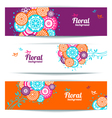 Banners of abstract floral background vector image