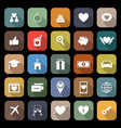 family flat icons with long shadow vector image