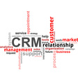 word cloud crm vector image