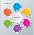 infographic background 30 vector image