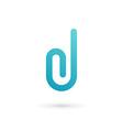 Letter D clip logo icon design template elements vector image vector image