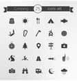 Tourism travel silhouettes icons set vector image