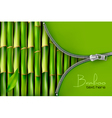 Bamboo background with open zipper vector image