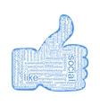 Social tags cloud vector image vector image