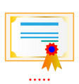 certificate it is icon vector image