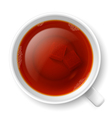 Cup of black tea vector image
