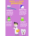 Dental care and health kids vector image