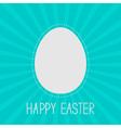 Easter egg frame template Dash line Sunburst vector image